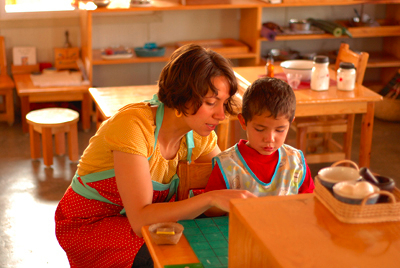 "most important preperation in becoming a montessori directress ""the whole art of being a montessori directresslies in knowing when to intervene and when not to  only then can the most important factor in her ."